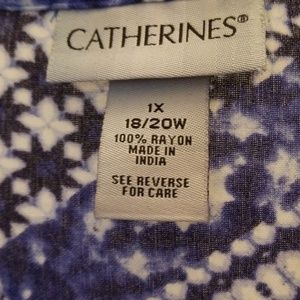 Catherines Tops - 3/4 sleeve blouse tunic